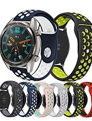 abordables -Bracelet de Montre  pour Huawei Watch GT / Watch 2 Pro Huawei Bracelet Sport Silikon Sangle de Poignet