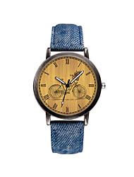 cheap -Men's Dress Watch Quartz Leather Black / Blue / Beige 30 m Chronograph Creative Luminous Analog Casual Fashion - Black Beige Blue Two Years Battery Life