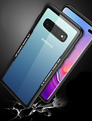 cheap -Case For Samsung Galaxy Galaxy S10 / Galaxy S10 Plus / Galaxy S10 E Shockproof / Ultra-thin / Transparent Back Cover Transparent Hard Tempered Glass
