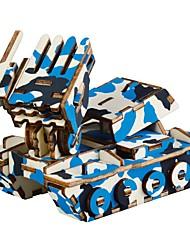 abordables -Puzzles en bois Jeux de Logique & Casse-tête Tank Dessin Animé 3D Fait à la main Interaction parent-enfant En bois 1 pcs Enfant Adulte Tous Jouet Cadeau