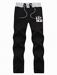 abordables -Homme Joggings Coton Des sports Hiver Pantalons / Surpantalons Course / Running Jogging Chaud Doux Couleur Pleine Noir Gris foncé Crème Bleu / Noir Grise blanc + Gris. / Micro-élastique / Toison