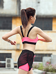 cheap -Women's Sports Bra Top Sports Bra Pullover Sports Bra Wirefree Yoga Dance Fitness Breathable Quick Dry Sweat-wicking Padded Medium Support Pink Fashion