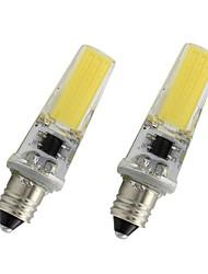 Недорогие -2 шт. 3 Вт e11 светодиодные лампочки 110 В 220 В 450lm початка лампы затемнения белый теплый белый для домашнего освещения люстра хрустальная лампа