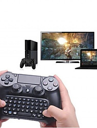 cheap -Keyboard 3.5mm Plug Mini Wireless Chatpad Message Keyboard for PS4 Controller Black