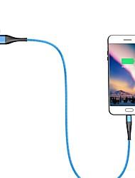 Недорогие -Type-C Кабель 1.0m (3FT) Быстрая зарядка Алюминий / TPE Адаптер USB-кабеля Назначение Samsung / Huawei / LG