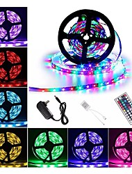 cheap -1 set Waterproof LED Strip Lights Kit RGB Tiktok Lights DC12V Power Supply SMD 3528 8mm 5M 300leds 60ledsm With 44key Ir Remote Controller for Kicthen Bedroom Sitting Room And Outdoor EU AU UK US Plu