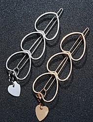 cheap -Women's Girls' Hair Jewelry For Heart Alloy Silver Golden 1pc