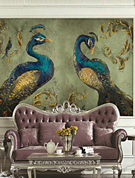 cheap -Wallpaper / Mural / Wall Cloth Canvas Wall Covering - Adhesive required Art Deco / Pattern / Animal