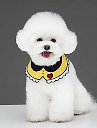 cheap -Dogs Cats Tie / Bow Tie Dog Clothes Yellow Red Blue Costume Dalmatian Beagle Shiba Inu Terylene Heart Embroidered Flower Cute Halloween M L