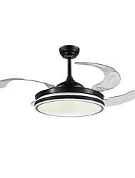 cheap -1-Light QINGMING® 108 cm Mini Style / Tri-color Ceiling Fan Metal Circle / Mini Painted Finishes LED / Modern 110-120V / 220-240V