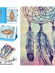 cheap -Case For Apple iPad Air / iPad 4/3/2 / iPad (2018) Wallet / Card Holder / Shockproof Full Body Cases Cartoon / Feathers Hard PU Leather / iPad (2017)
