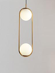 cheap -2-Light Novelty Pendant Light Ambient Light Electroplated Metal Glass Adjustable 110-120V / 220-240V Warm White / Cold White
