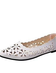 cheap -Women's Flats Flat Heel Pointed Toe PU Casual Walking Shoes Fall / Spring & Summer Pink / White / Black