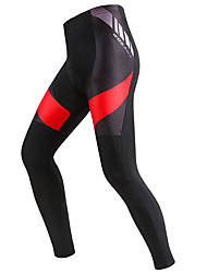 cheap -WOSAWE Men's Cycling Tights Bike Tights Pants Bottoms 3D Pad Sports Polyester Spandex Black / Red Mountain Bike MTB Road Bike Cycling Clothing Apparel Advanced Relaxed Fit Bike Wear / Stretchy
