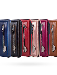cheap -Case For Apple iPhone XS / iPhone XR / iPhone XS Max Wallet Back Cover Solid Colored Hard PU Leather