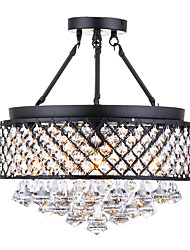 cheap -American Rural Iron Art Chandelier Simple Modern Crystal Living Room Bedroom Studio Restaurant Suction ceiling Chandelier