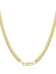 cheap -Men's Chain Necklace Chains Braided Classic Fashion Copper Silver Plated Gold Plated Gold Silver 51 cm Necklace Jewelry 1pc For Daily Work