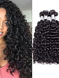 cheap -4 Bundles Hair Weaves Peruvian Hair Water Wave Human Hair Extensions Remy Human Hair 100% Remy Hair Weave Bundles 400 g Natural Color Hair Weaves / Hair Bulk Human Hair Extensions 8-28 inch Natural