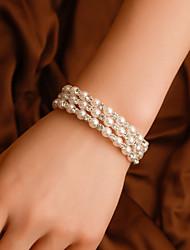 cheap -Women's Bead Bracelet Wrap Bracelet Beads Precious Casual / Sporty Korean Fashion Imitation Pearl Bracelet Jewelry White For Gift Daily Street Holiday / Rhinestone