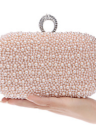 cheap -Women's Bags Evening Bag Pearls Solid Colored Party Club Evening Bag Wedding Bags Handbags White Pink