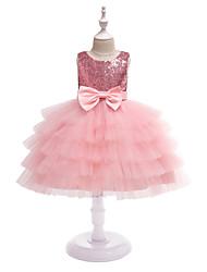 cheap -Princess Dress Party Costume Flower Girl Dress Girls' Movie Cosplay Princess Pink / Light Blue Dress Children's Day Masquerade Polyester
