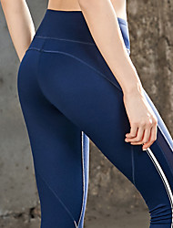 cheap -Women's Yoga Pants Solid Color Mesh Running Fitness Tights Bottoms Activewear Soft Butt Lift Tummy Control Power Flex Stretchy Skinny
