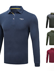 cheap -Men's Tee / T-shirt Long Sleeve Golf Outdoor Autumn / Fall Spring Winter / Cotton / Modal / Stretchy / Quick Dry / Thermal / Warm
