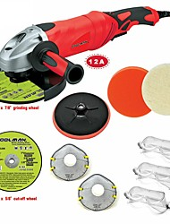 cheap -Toolman 11pcs Angle Grinder 7 12A 6 Variable Speed & Cut-off wheel grind wheel