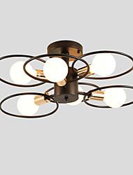 cheap -JSGYlights 6-Light 57 cm New Design Flush Mount Lights Metal Painted Finishes Country / Modern 110-120V / 220-240V / E26 / E27