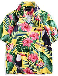 cheap -Men's Shirt - Floral / 3D Print Green