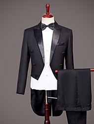 cheap -Tuxedos Standard Fit Peak No Buttons Nylon Solid Colored