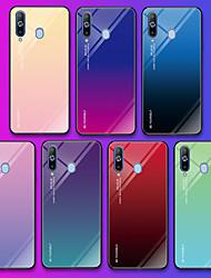 Недорогие -Кейс для Назначение SSamsung Galaxy A9 Star / Galaxy A10 (2019) / Galaxy A30 (2019) С узором Кейс на заднюю панель Слова / выражения / Градиент цвета Мягкий Закаленное стекло