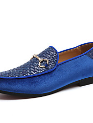 cheap -Men's Formal Shoes Synthetics Spring / Fall & Winter Casual / British Loafers & Slip-Ons Non-slipping Black / Blue / Office & Career / Dress Shoes / Moccasin