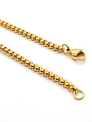 cheap -Men's Women's Chain Necklace Classic Hope Artistic Simple Trendy Fashion Stainless Steel Gold 60 cm Necklace Jewelry 1pc For Gift Daily Carnival Street Club