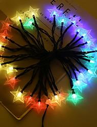 Недорогие -4м Гирлянды 20 светодиоды Разные цвета Работает от солнечной энергии / Декоративная Аккумуляторы AA 1 комплект