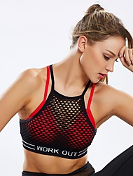 cheap -Women's Cross Back Bra Top Lightweight Breathable Sweat-wicking Padded Light Support for Yoga Running Fitness Fashion Red Blue Pink