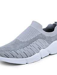 cheap -Men's Comfort Shoes Tissage Volant Summer Casual Athletic Shoes Running Shoes Breathable Black / Gray