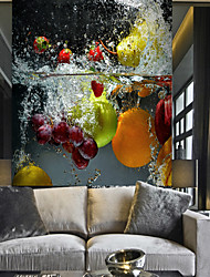 Недорогие -чистая вода, фрукты и овощи, подходящие для телевизионного фона, настенные обои, фрески, гостиная, кафе, ресторан, спальня, офис, xxxl (448 * 280 см).