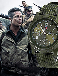 cheap -Men's Military Watch Hunting Watch Quartz Nylon Black / Blue / Green 30 m New Design Casual Watch Analog Casual Fashion - Black Green Blue One Year Battery Life / SSUO 377