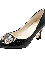 cheap -Women's Heels Spool Heel Patent Leather Spring & Summer Black / Beige