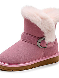 cheap -Girls' Comfort / Snow Boots Suede Boots Toddler(9m-4ys) / Little Kids(4-7ys) / Big Kids(7years +) Black / Pink / Brown Winter / Mid-Calf Boots