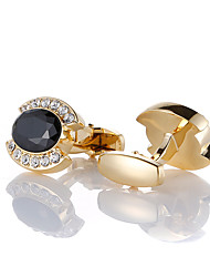 cheap -Cufflinks Classic Fashion Brooch Jewelry Golden For Wedding Party