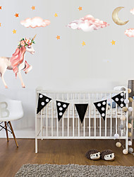 cheap -1PC Unicorn Self-Adheres To The Wall To Decorate The Princess'S House  Wall Stickers