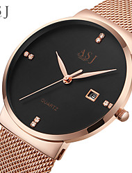 cheap -ASJ Men's Dress Watch Japanese Quartz Black / White / Rose Gold No Calendar / date / day Analog Office / Business Fashion Simple watch - Black / White Rose Gold Black / Rose Gold One Year Battery Life