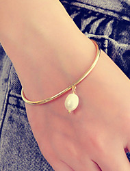 cheap -Women's Pendant Bracelet Pear Cut Pear Stylish Artistic Sweet Fashion Imitation Pearl Bracelet Jewelry Gold For Gift Prom Festival