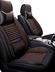 Недорогие -подушки автомобильного сиденья бежевые / серые / черные / коричневые из искусственной кожи / из синтетического волокна бизнес / дышащие для универсального 4 seasons на пять мест