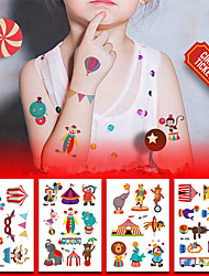 cheap -8 pcs Temporary Tattoos Eco-friendly / Water Resistant Face / Body / brachium Environmentally Friendly Ink
