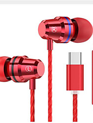 cheap -LITBest TYPEC1 Wired In-ear Earphone Wired Music Sports & Outdoors Stereo with Microphone with Volume Control for Mobile Phone