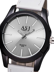 Недорогие -ASJ Жен. Нарядные часы Кварцевый Pезина Черный / Белый / Красный Нет Cool Аналоговый Мода - Белый Черный Красный