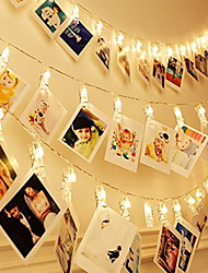 cheap -3m Photo Clip Holders String Lights 20 LEDs Warm White Room Decorative AA Batteries Powered 1 set
